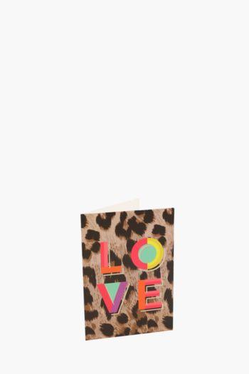 Leopard Spot Gift Card A6