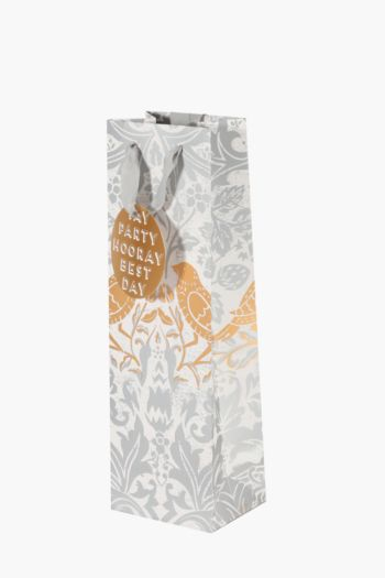 Floral Birds Wine Bag