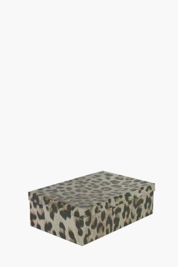 Printed Leopard Storage Box Medium