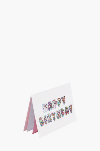 Birthday Glitter Shaker Card
