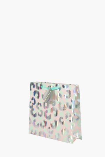 Iridescent Leopard Print Gift Bag Medium