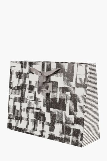 Geometric Print Gift Bag Large