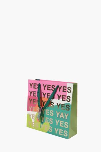 Bright Script Print Gift Bag Medium