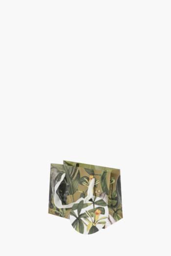 Panther Botanical Print Gift Bag Extra Small