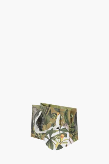 Panther Botanical Print Gift Bag Extra Small