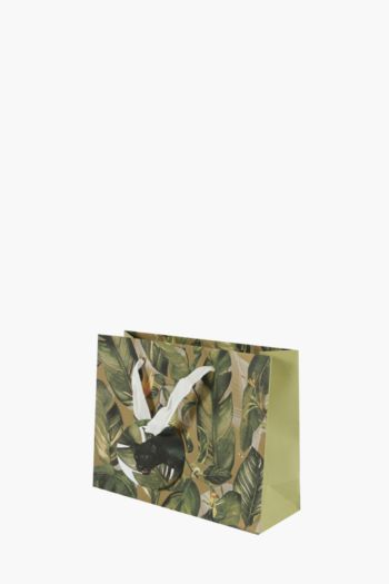 Panther Botanical Print Gift Bag Small