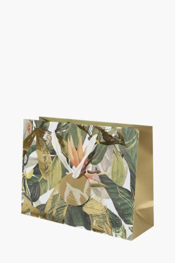 Panther Botanical Print Gift Bag Medium