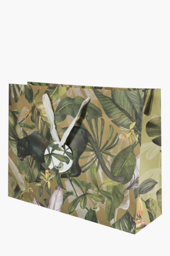 Panther Botanical Print Gift Bag Large