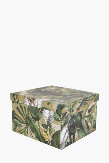 Panther Botanical Printed Gift Box Large