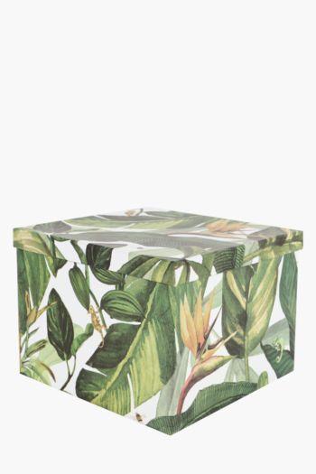 Panther Botanical Printed Gift Box Extra Large