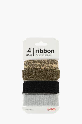 4 Pack Metallic Ribbons