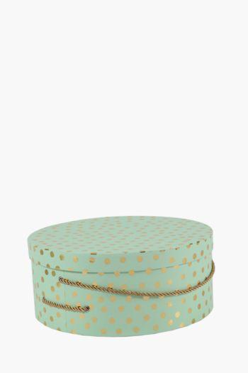 Round Polka Dot Hat Box Extra Extra Large