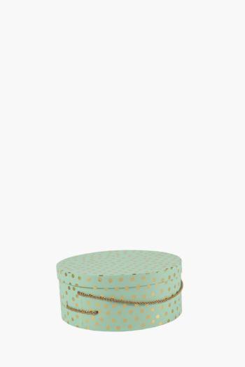 Round Polka Dot Hat Box Large