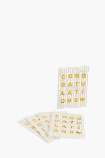 5 Pack Foil Print Congratulations Gift Cards A5