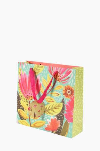 Bright Floral Printed Gift Bag Medium