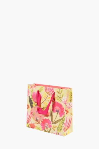 Bright Floral Printed Gift Bag Small