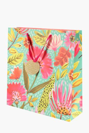 Bright Floral Printed Gift Bag Extra Large