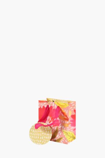 Bright Floral Printed Gift Bag Extra Small