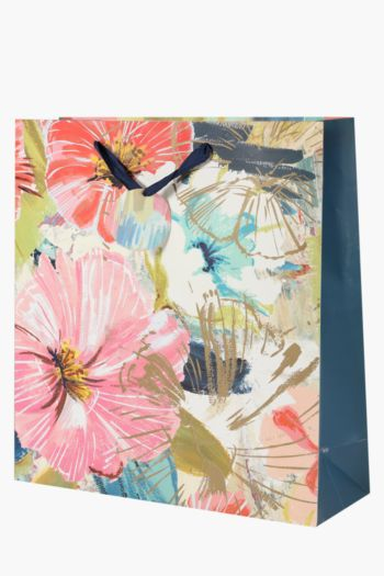Angelica Florals Print Gift Bag Extra Large