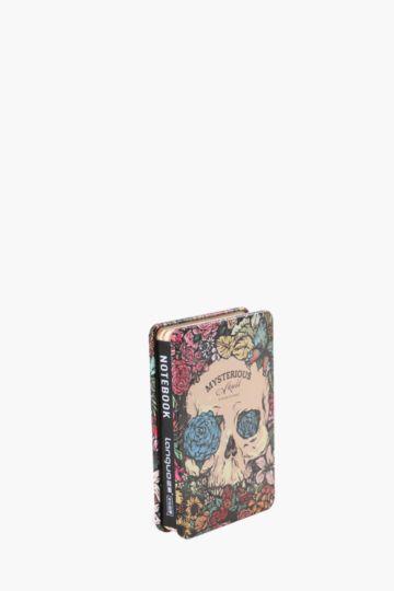 Tin Notebook Flower Skull