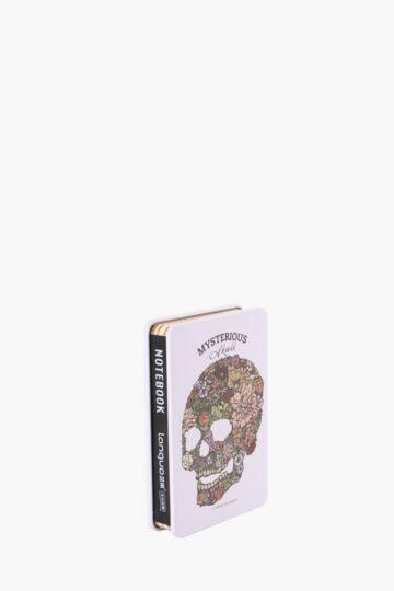 Tin Notebook Floral Skull