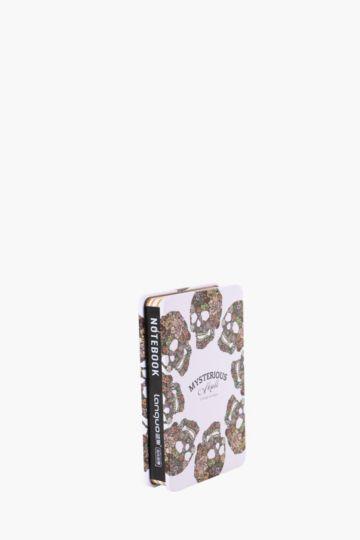 Tin Notebook Multi Floral Skulls