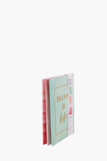 3 Pack A5 Pastel Slogan Notebooks