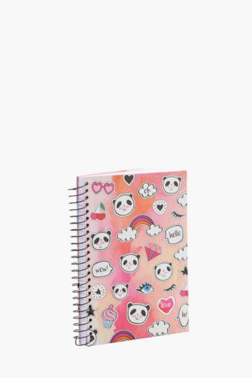 Hard Cover Spiral Panda Notebook A5