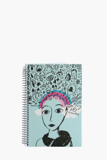 Hard Cover Spiral Thoughts Notebook A4