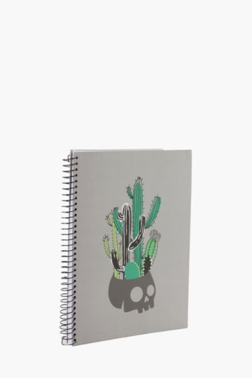 Skull Cactus Notebook A4