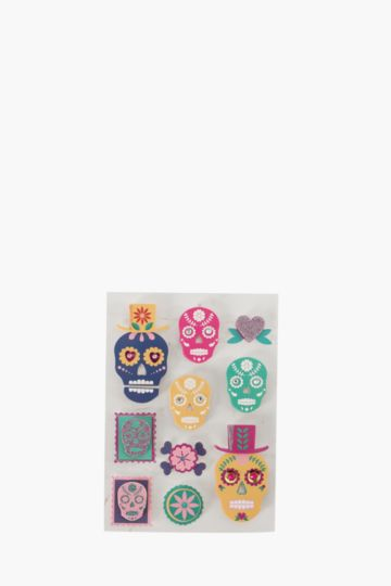 Pack Of 10 Calavera Stickers