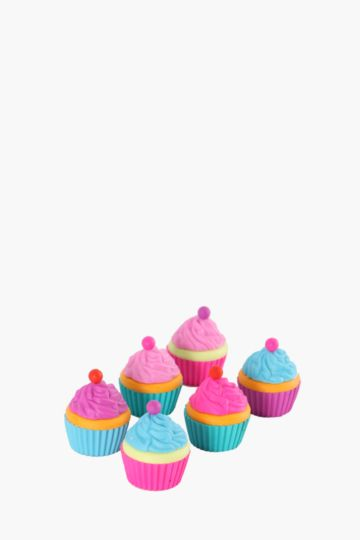 Pack Of 6 Mini Cupcake Erasers
