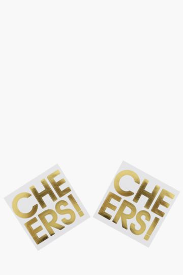 2 Pack Cheers Balloon Stickers