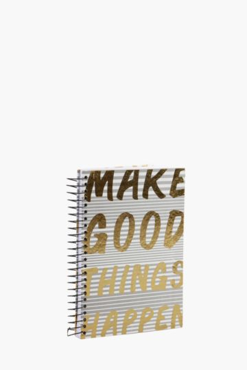 Hard Cover Spiral Slogan Notebook A5
