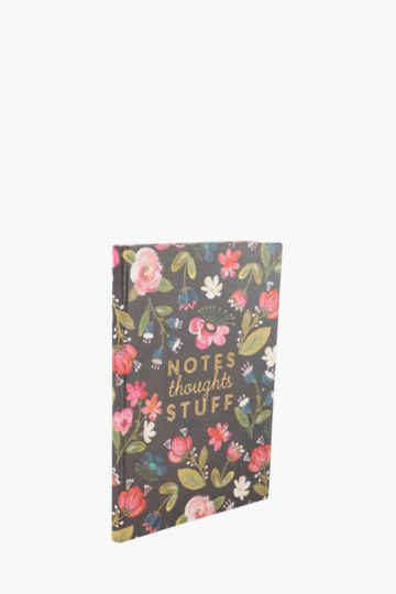 Thoughts Floral Notebook A4