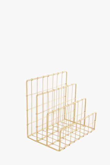 Gold Wire Notebook Holder