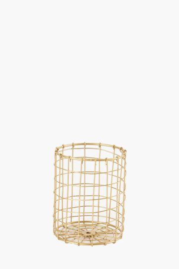 Gold Wire Pencil Holder