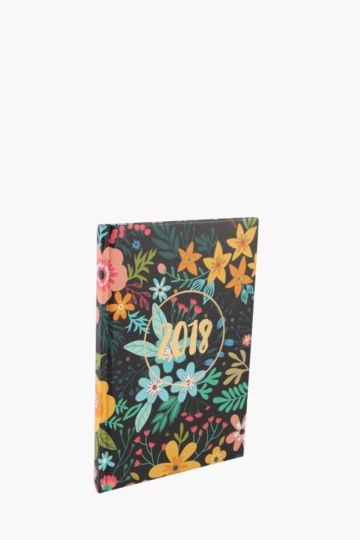 2018 Diary Floral A5