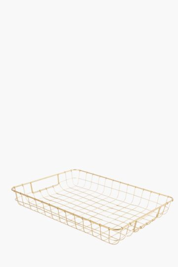 Metallic Wire Paper Tray