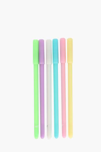 Pack Of 6 Pastel Pens