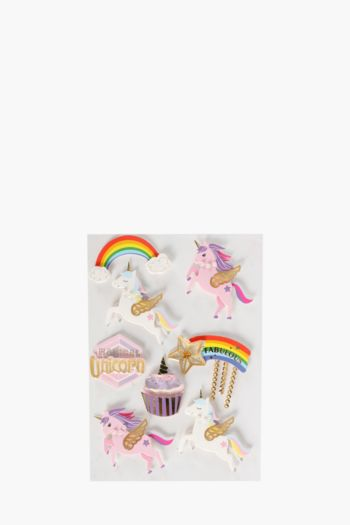 3d Unicorn Stickers