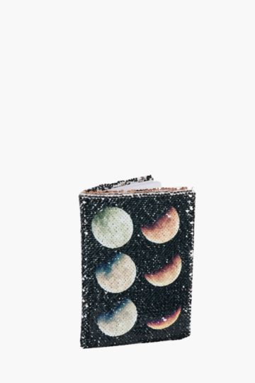 Sequin Moon Phases Notebook A5