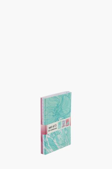 Set Of 3 Botanical Notebooks A6