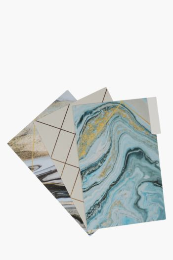 3 Pack A4 Marble Folders