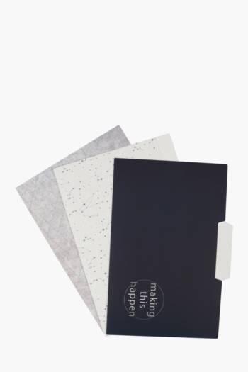 3 Pack A4 Stars Folders