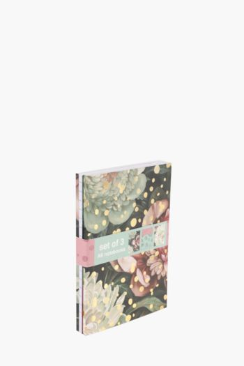 Set Of 3 Forever Florals Notebooks A6