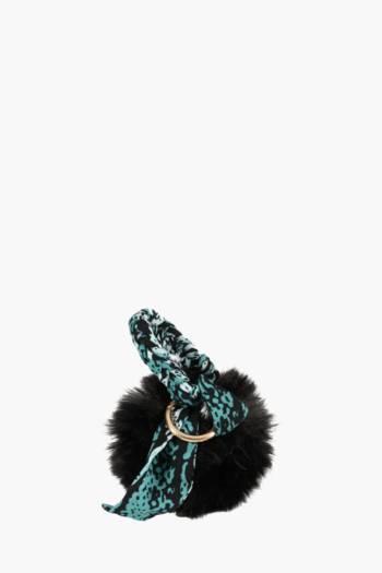 Ribbon Tie Pom Key Ring