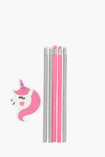 Unicorn Sharpener And Pencil Set