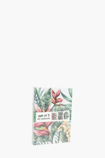 Set Of 3 Tropical Notebooks A6
