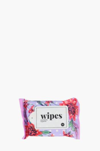 10 Pack Floral Spot Wet Wipes